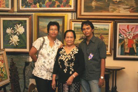 My Sist, Bro & Bunda Tercinta nengok studio galeriku