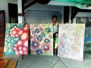 Bersama Bill & 3 lukisan baru
