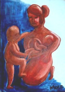 Patung Ibu dan Anak