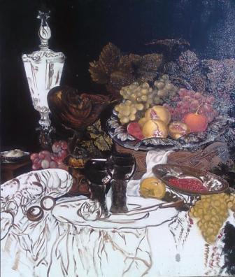 Lukisan Still Life Karya Galih, Belum Selesai