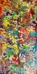 Batang Garing Kinan Uret, Moses F, 2010, Oil on Canvas, 145cm X 290cm