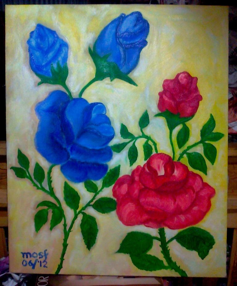 Mawar Lukisan Moses