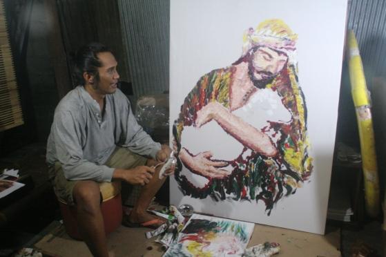 Manampa Lukisan Sakatik