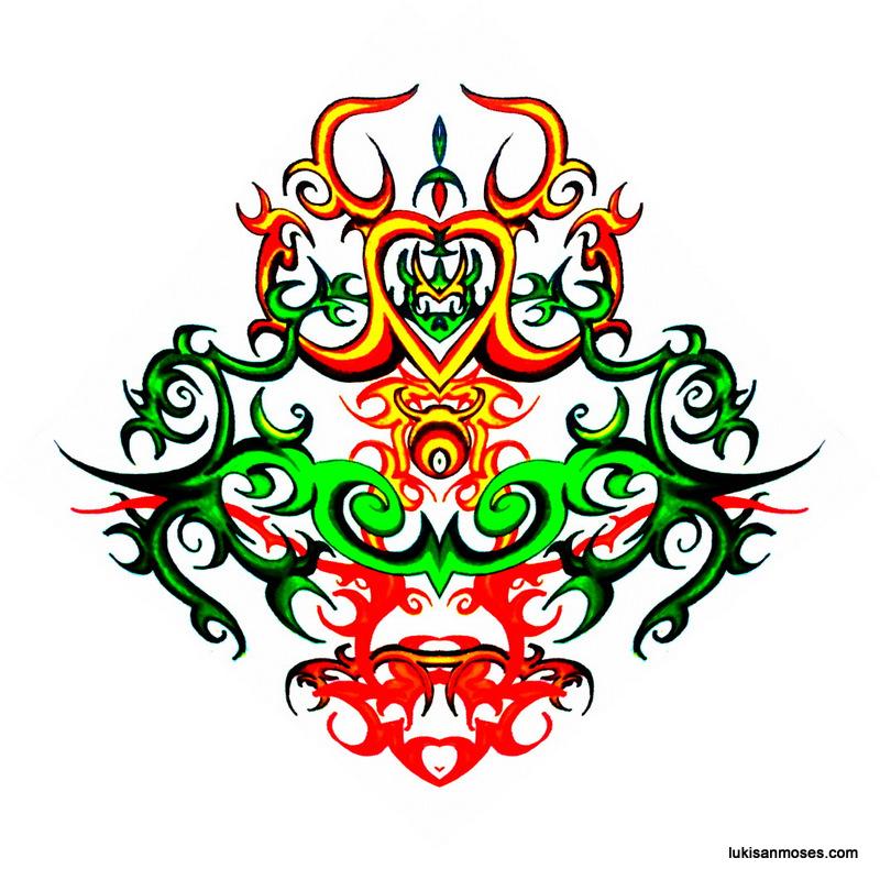 October 2012 800 × 800 Desain Gambar Khas Etnik Dayak untuk Sablon ...