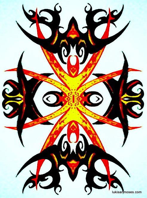 Desain Gambar Khas Etnik Dayak untuk Sablon T-shirt | GALERI LUKISAN ...